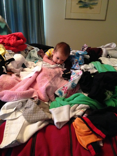 "Joseph atop the aptly named ""Laundry Mountain"""