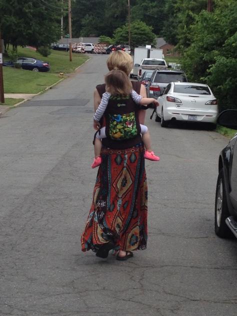 "EK loves riding on my back. ""Back, ma! Back, ma!"""