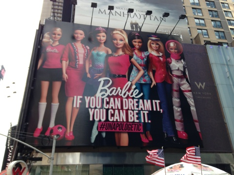 I just had to post this picture - I've always loved Barbie even though she's gotten some flack. This makes up for it, just a little bit.