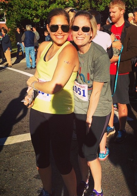 My sweet friend Aida (this race was her idea!) and me before the run!