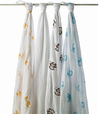 These Aden and Anais swaddles are some of our favorites!
